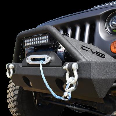DV8 - Stubby  Front Bumper w/Fog Lights 2007-2018 Wrangler JK   (FBSHTB-15)