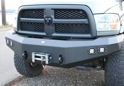 Front - DV8 Front Bumpers - DV8 Offroad - DV8 -Front  Bumper  Dodge Ram 2500/3500   2010-2018 (FBDR2-02)