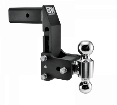 """B & W   Tow & Stow  for GM Multi-Pro Tailgate  Dual Bal   2.5"""" Hitch  7"""" Drop/ 7.5"""" Rise  Black  (TS20066BMP)"""